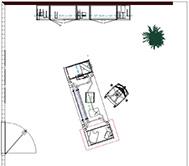Büroplanung Einzelarbeitsplatz - Plan