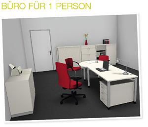 Büroplanung Einzelarbeitsplatz