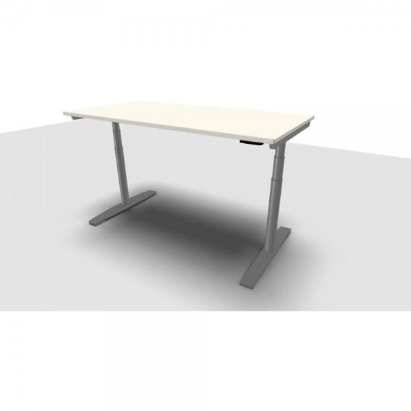 Schreibtisch Jump Move Einfachhub, 1.600x800x680-1.180mm, perlweiß