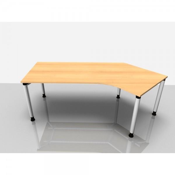 Abgewink.Tisch re. Rialto Pro, 2.170x800/1.000x680-820mm, buche
