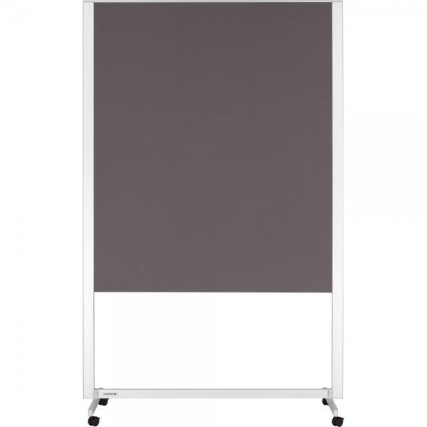 Pinntafel PROFESSIONAL, Filz, 120 x 150 cm, grau, Aluminiumrahmen