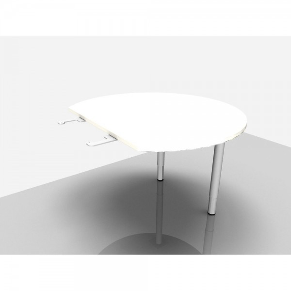Bespr.anbau Rialto Pro Komfort weiß 110 cm 4-Fuß