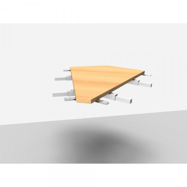 Winkelanbauplatte Rialto Pro / Trend Pro 45°, buche