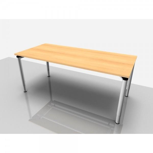 Schreibtisch Rechteckform Rialto Pro Komf., 1.800x800x620-850mm, buche