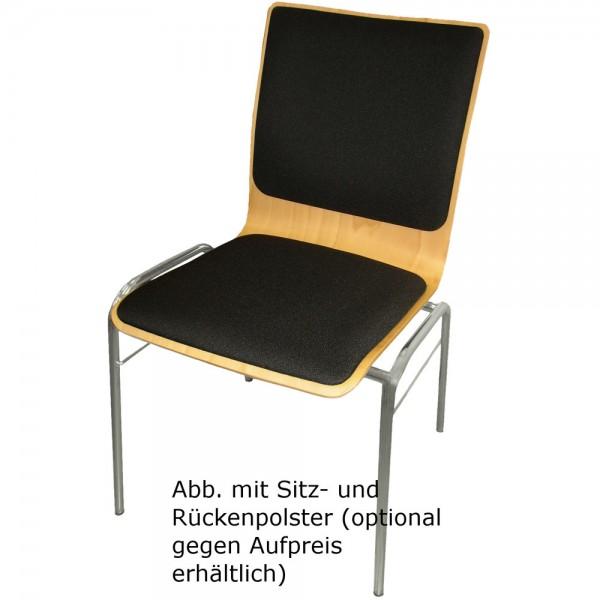 Holzschalenstuhl WING V, stapelbar, buche, chrom