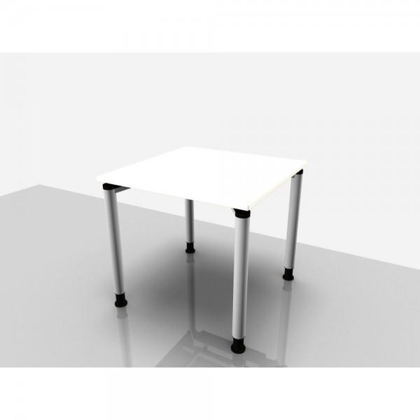 Schreibtisch Rechteckform Rialto Pro, 800x800x680-820mm, weiß
