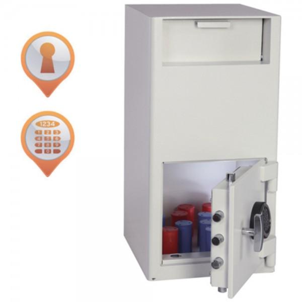 Einwurftresor Cashier Deposit, Elektronik, 68 Liter, 340x380x700 mm