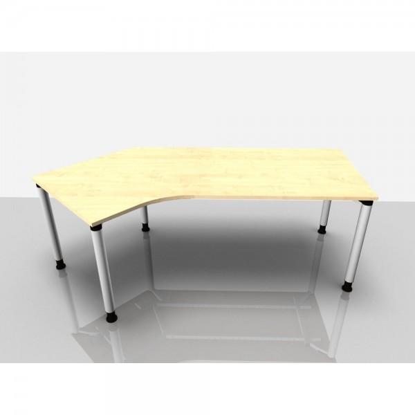 Abgewink.Tisch li. Rialto Pro, 2.170x800/1.000x680-820mm, ahorn