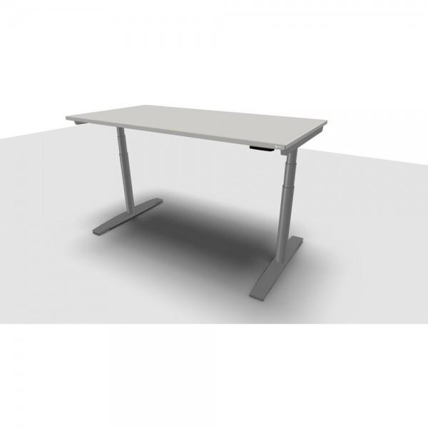 Schreibtisch Jump Move Einfachhub, 1.600x800x680-1.180mm, grau