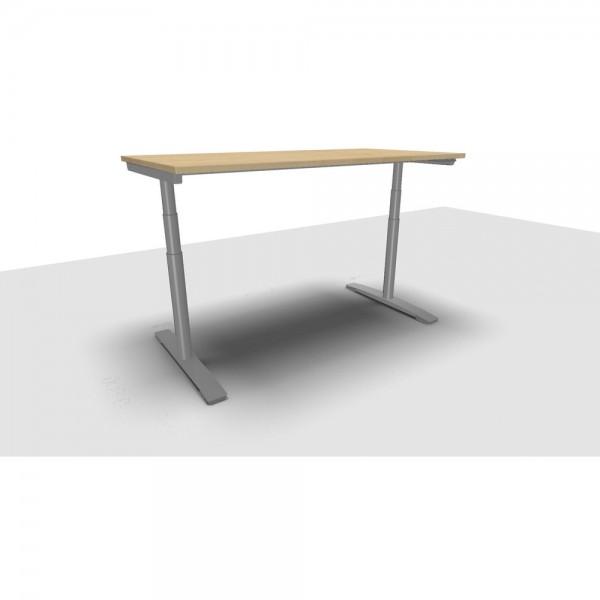 Schreibtisch Jump Move Doppelhub, 1.600x800x650-1.300mm, ahorn