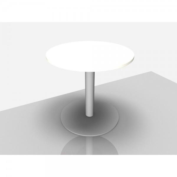 Bespr.tisch Pro Rund mit Säulenfuß, 800 x 720 mm, weiß