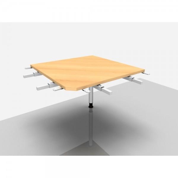 Winkelplatte Rialto Pro 90° mit kpl. Ecke, 800x800x680-820mm, buche