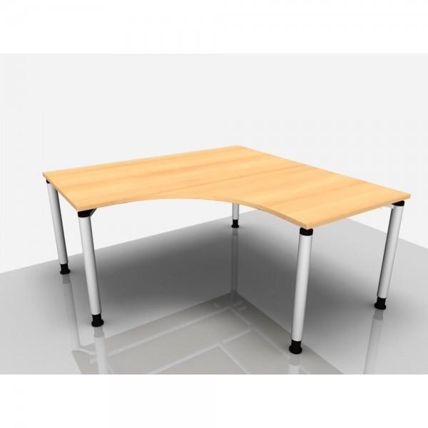 Schreibtisch Rialto Pro in Winkelf. 90° - Rechts, 160/68-82cm, buche