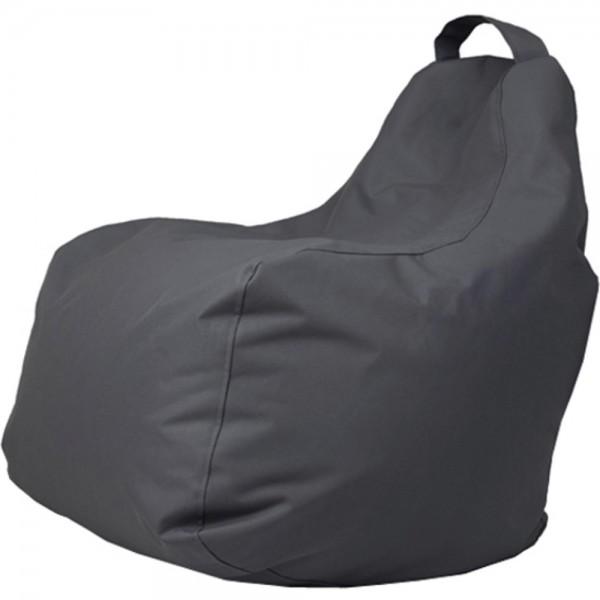 B!chair Sitzsack mit Griff grau 80x80x80