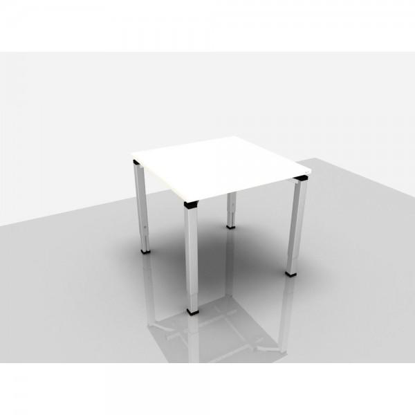 Schreibtisch Trend Pro Komfort, 800x800x620-850mm, weiß