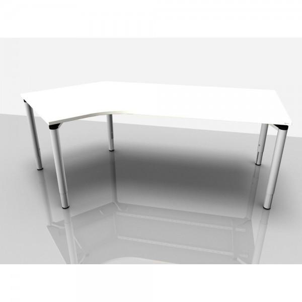 Abgewink.Tisch re. Rialto Pro Komf., 2.170x1.000/800x620-850mm, weiß
