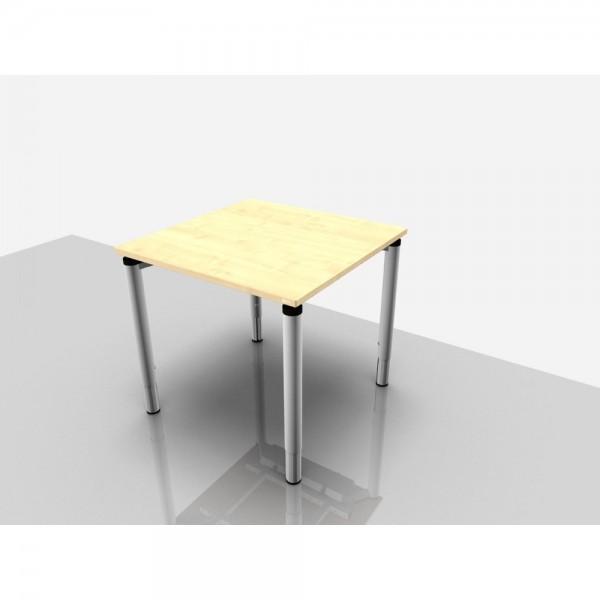 Schreibtisch Rechteckform Rialto Pro Komfort, 800x800x620-850mm, ahorn