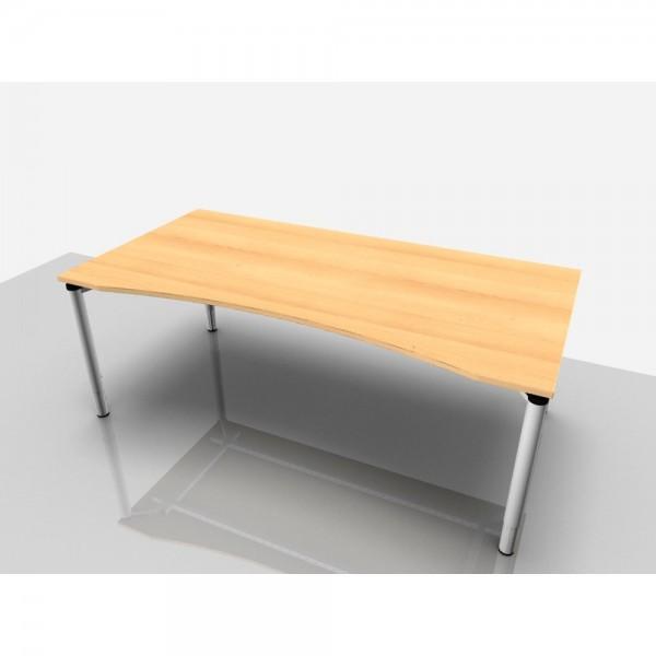 Cockpittisch Rialto Pro Komfort, 2.000x1.000/900x620-850mm, buche