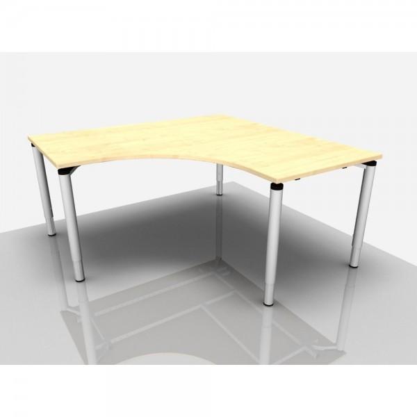 Schreibtisch Rialto Pro Komf. 90° - Rechts, 160/62-85cm, ahorn