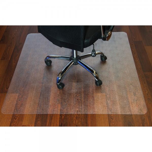 Bodenschutzmatte, Hartboden, PC, 90 x 120 cm, farblos, transparent