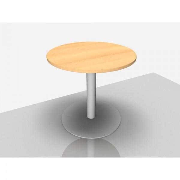 Bespr.tisch Pro Rund mit Säulenfuß, 800 x 720 mm, buche