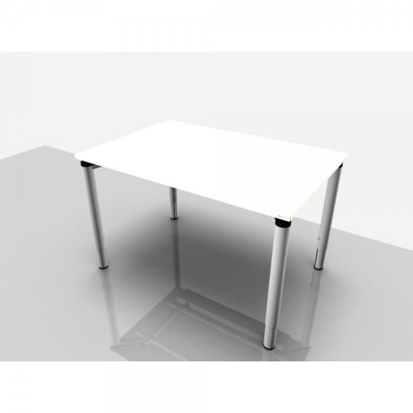 Schreibtisch Rechteckform Rialto Pro Komf., 1.200x800x620-850mm, weiß
