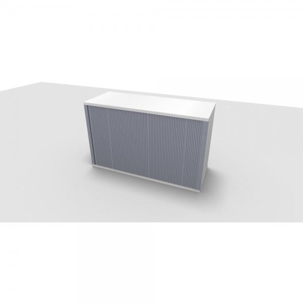 Aufsatzrollladenschrank All in One, 2OH, 1.200x442x736mm, diamantweiß
