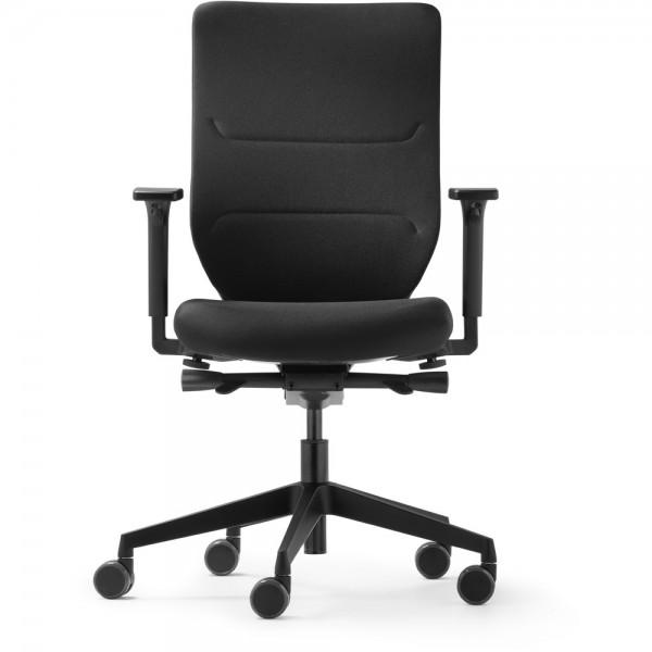 Bürodrehstuhl To-sync work comf., mit Armlehnen, schwarz
