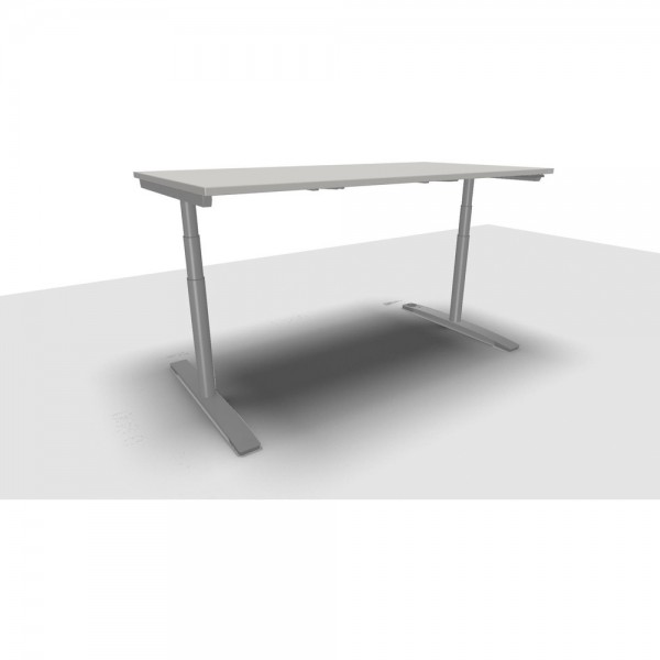Schreibtisch Jump Move Doppelhub, 1.800x900x650-1.300mm, grau