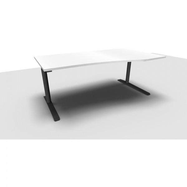 Freiformtisch All in One, rechts, 1.800x800/1.000x650-850mm, diam.we