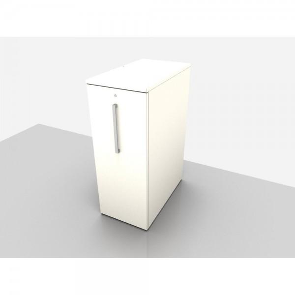 Highcontainer 3 HE, links anstellbar, 450x800x720mm, weiß
