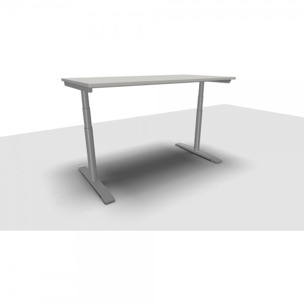 Schreibtisch Jump Move Doppelhub, 1.600x800x650-1.300mm, grau