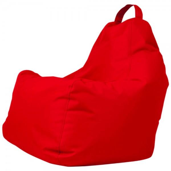 B!chair Sitzsack mit Griff rot 80x80x80