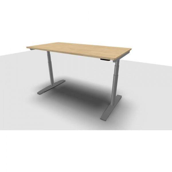 Schreibtisch Jump Move Einfachhub, 1.600x800x680-1.180mm, ahorn