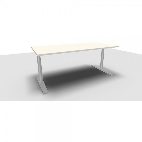 Rechteckschreibtisch Jump, 1.800x800x620-850mm, weiß