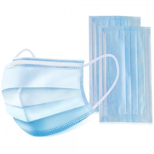 Mundschutz, Typ 1, blau/weiß