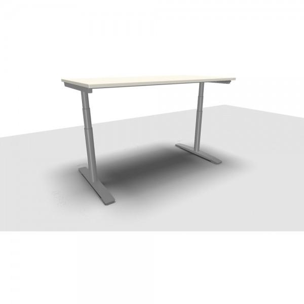 Schreibtisch Jump Move Doppelhub, 1.600x800x650-1.300mm, weiß