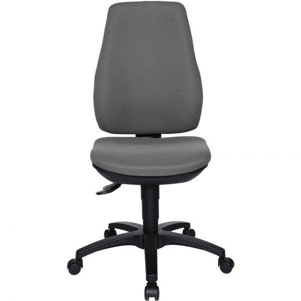 Bürodrehstuhl Ergo Basic, ohne Armlehnen, Kunststofffußkreuz, hellgrau