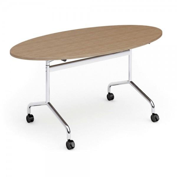 Konferenztisch FLIB, M03, oval, 1.600x800x750mm, buche