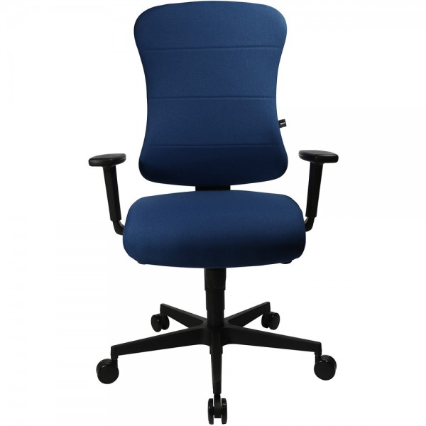 Bürodrehstuhl Ergo Future 3D, mit Armlehnen, Kunststofffußkreuz, blau