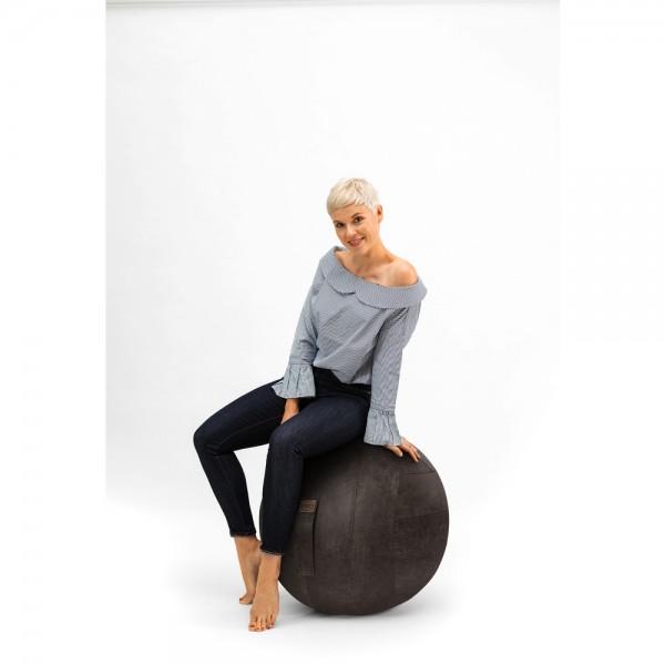 Sitzball Franky, Ø 65 cm, PVC/Kunstleder, Tragf.: 100 kg, anthrazit