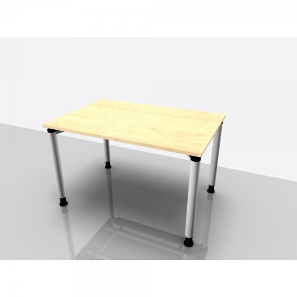 Schreibtisch Rechteckform Rialto Pro, 1.200x800x680-820mm, ahorn