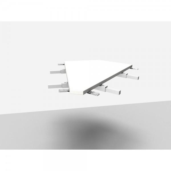 Winkelanbauplatte Rialto Pro / Trend Pro 45°, grau
