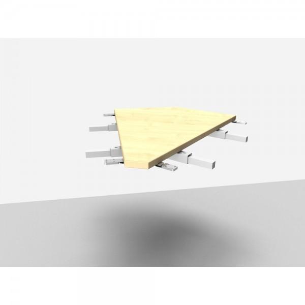 Winkelanbauplatte Rialto Pro / Trend Pro 45°, ahorn
