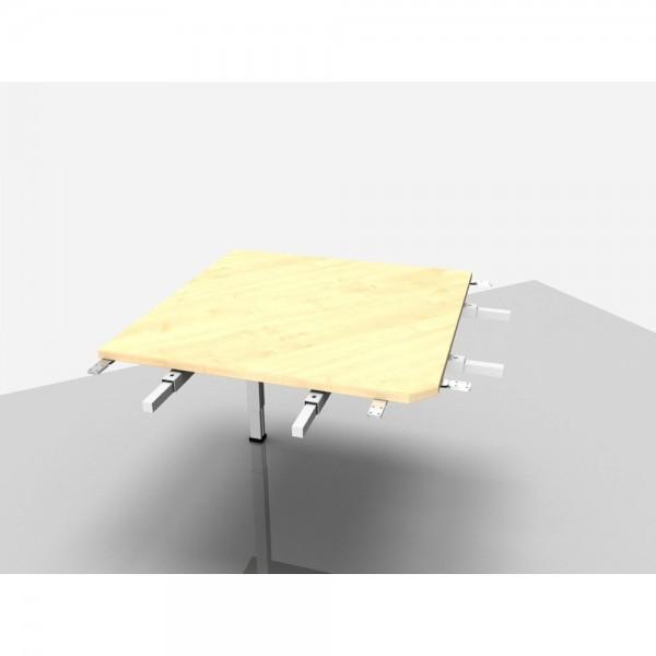 Winkelplatte Trend Pro Komfort 90° mit kpl. Ecke, ahorn