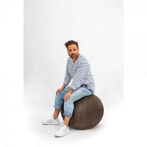 Sitzball Franky, Ø 65 cm, PVC/Kunstleder, Tragf.: 100 kg, braun