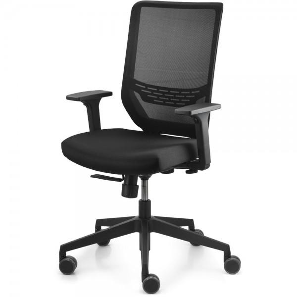 Bürodrehstuhl To-sync work mesh, Netzrücken, schwarz, mit Armlehnen