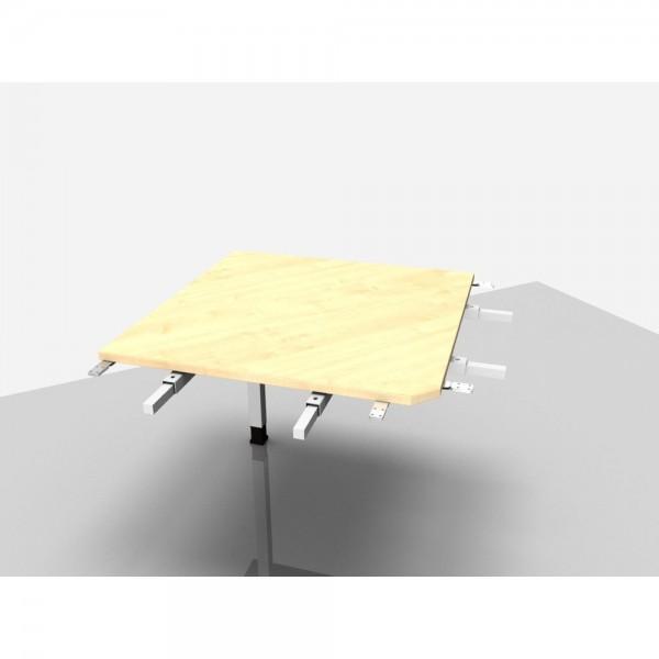 Winkelplatte Trend Pro m. Fuß ahorn 90Grad