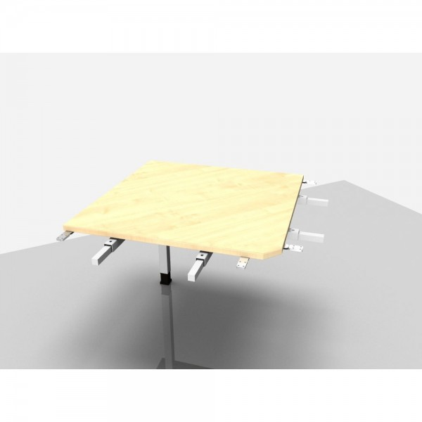 Winkelplatte Trend Pro 90° mit kpl. Ecke, 800x800x680-820mm, ahorn