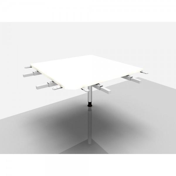Winkelplatte Rialto Pro m. Fuß weiß 90 Grad
